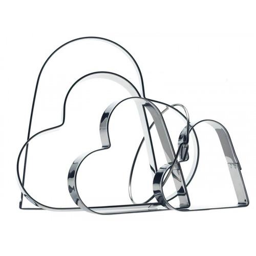 Kakformar - Hjärtan på ring