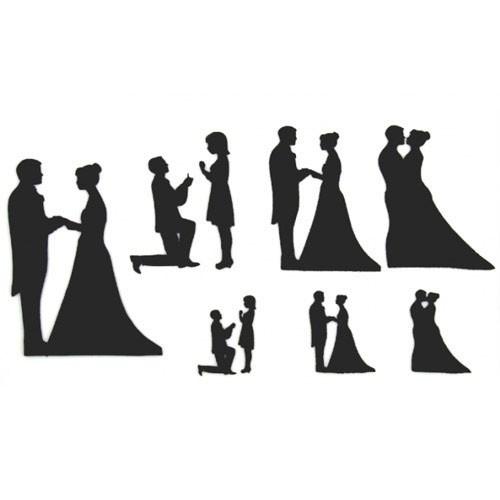 Patchwork Cutters Utstickare Wedding Silhouette Set