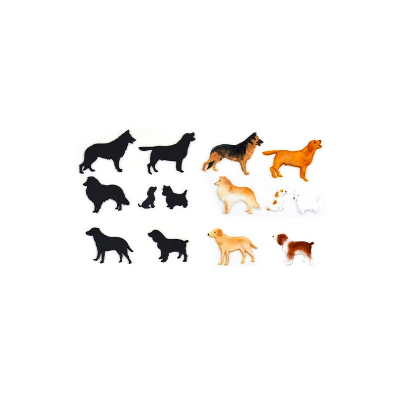 Patchwork Cutters Utstickare Dog Silhouette Set, Hund