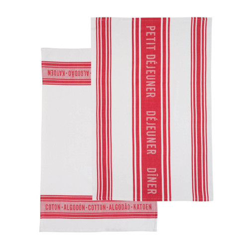 Kitchen Craft Kökshandduk Jacquard Red, 2-pack