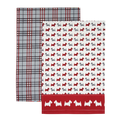 Kitchen Craft Kökshandduk Scottie Dog, 2-pack