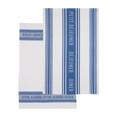 Kitchen Craft Kökshandduk Jacquard Blue, 2-pack