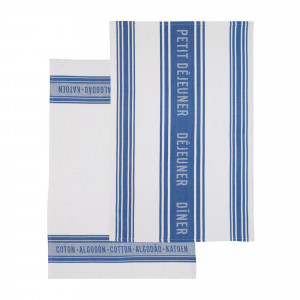 Kitchen Craft Kökshandduk Jacquard Blue, 2-pack