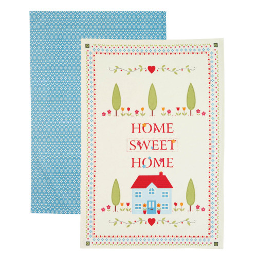 Kitchen Craft Kökshandduk Home Sweet Home, 2-pack