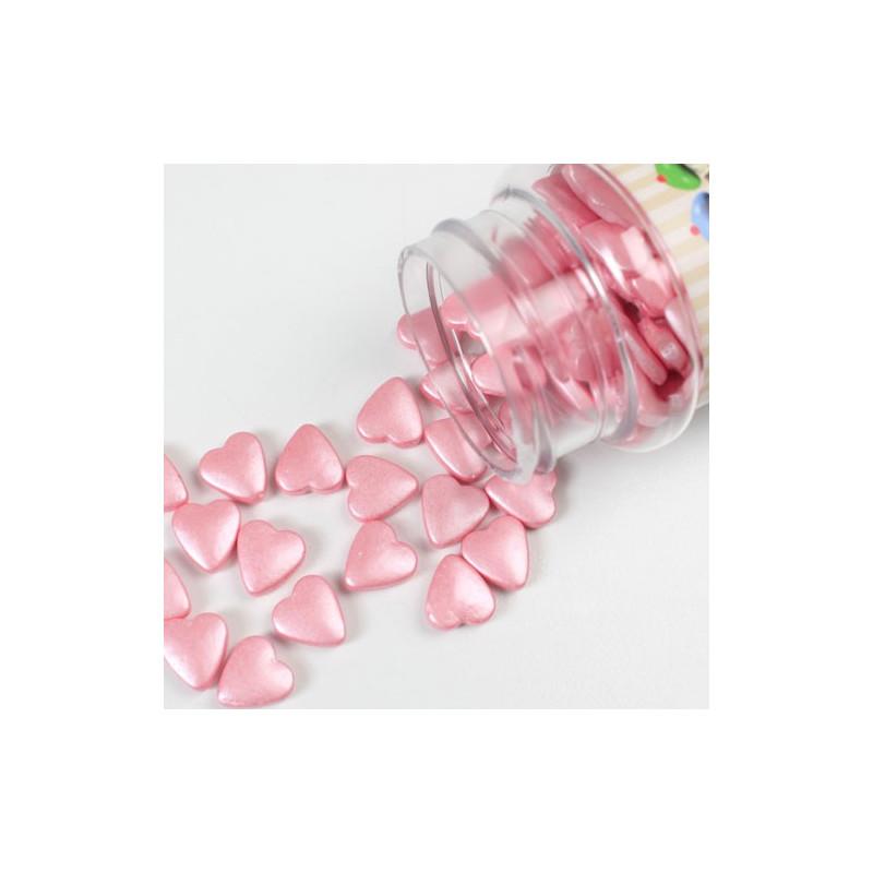 FunCakes Strössel Hjärtan, rosa