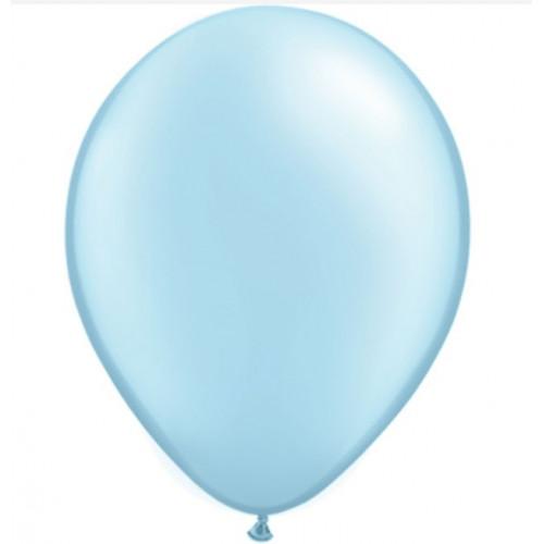 Qualatex Ballonger Metallic Light Blue, 8 st