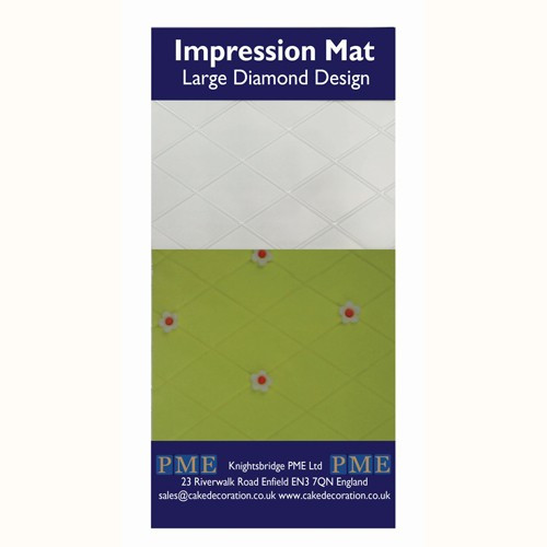 PME Impression Mat Large Diamond Design