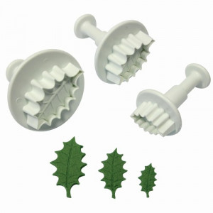 PME Utstickare, Veined Holly Leaf, set