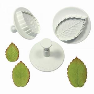 PME Utstickare, Veined Rose Leaf, Large Set