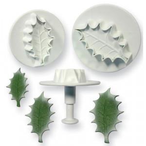 PME Utstickare Veined Holly Leaf set, extra large
