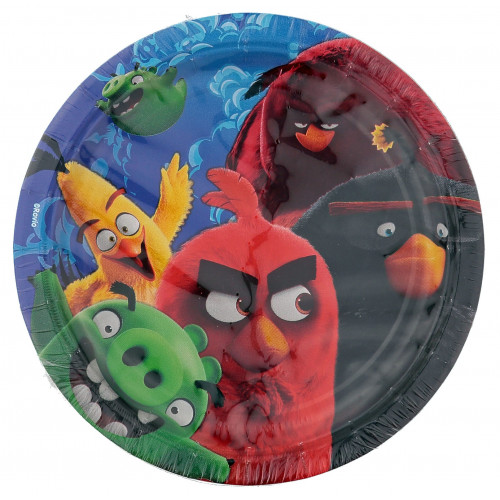 Papperstallrikar Angry Birds The Movie, 17,8 cm