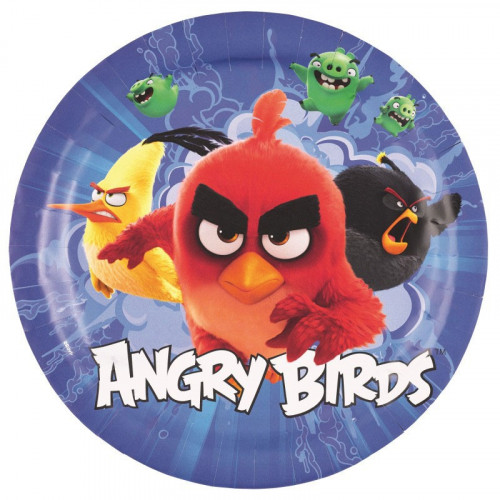 Papperstallrikar Angry Birds The Movie, 23 cm