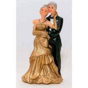 Tårtdekoration Brudpar Guldbröllop