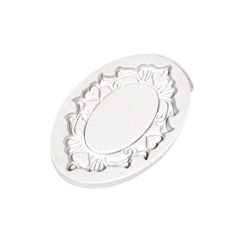 Katy Sue Designs Silikonform Plaque Oval Hearts