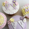 Katy Sue Designs Silikonform Siffror, Bunting Numbers