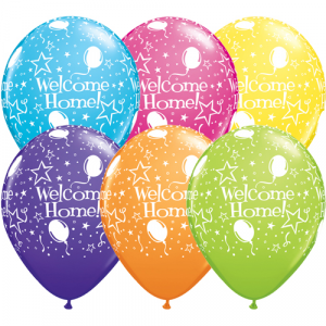 Qualatex Ballonger Welcome Home, blandade färger