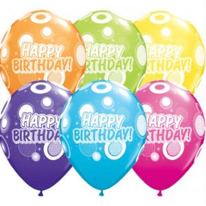 Qualatex Ballonger Tropical, Happy Birthday