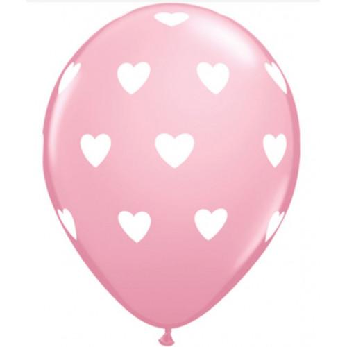 Qualatex Ballonger Hjärtan, rosa