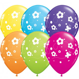 Qualatex Ballonger Blommor och Fjärilar