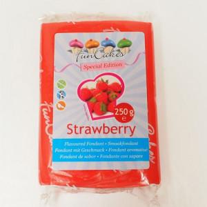 FunCakes Sockerpasta med jordgubbssmak, röd
