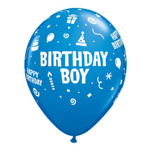 Qualatex Ballonger Birthday Boy, blå