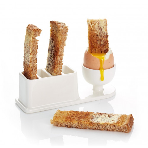 Kitchen Craft Äggkopp med brödhållare