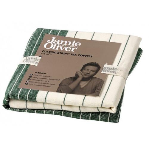 Jamie Oliver Kökshandduk, grön, 2-pack