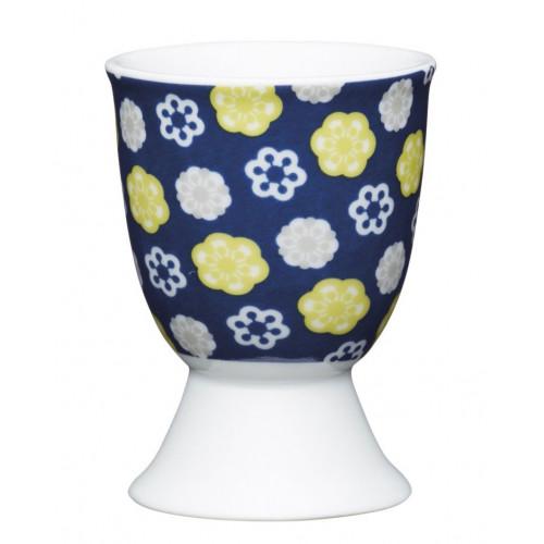 Kitchen Craft Äggkopp, Blå Blommig