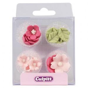 Culpitt Sockerblommor och blad, rosa