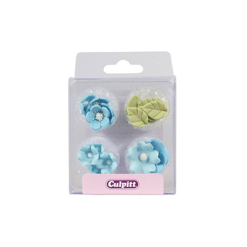 Culpitt Sockerblommor och blad, blå