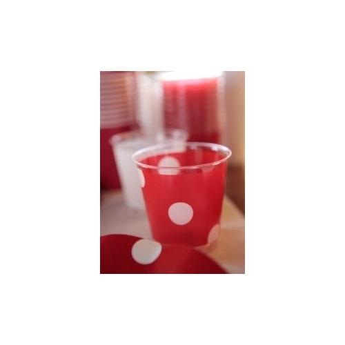 Plastmuggar Prickiga, röd