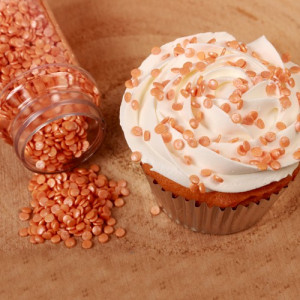 FunCakes Strössel Mini Confetti Orange, metallic