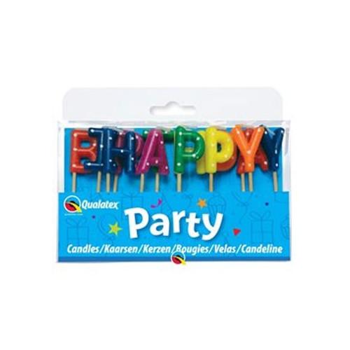 Qualatex Tårtljus Happy Birthday Multi