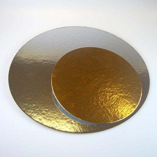 Tårtbricka guld och silver, 3-pack, 35 cm