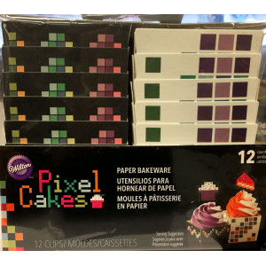 Wilton Muffinsform Pixel Cakes Fyrkantiga
