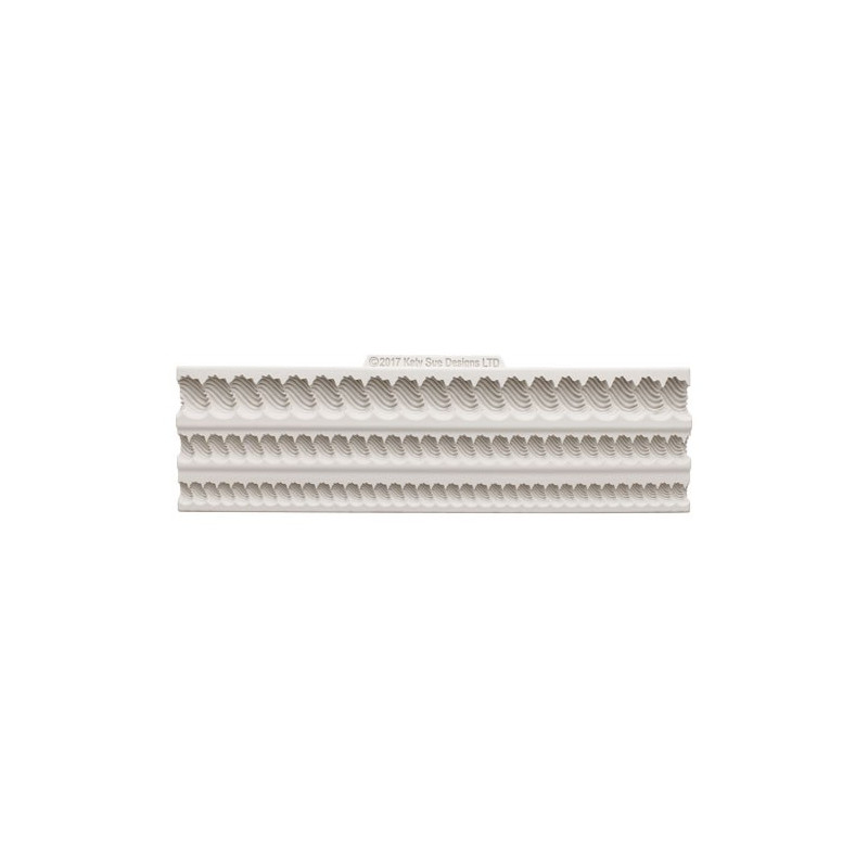 Katy Sue Designs Silikonform Serrated Rope Borders