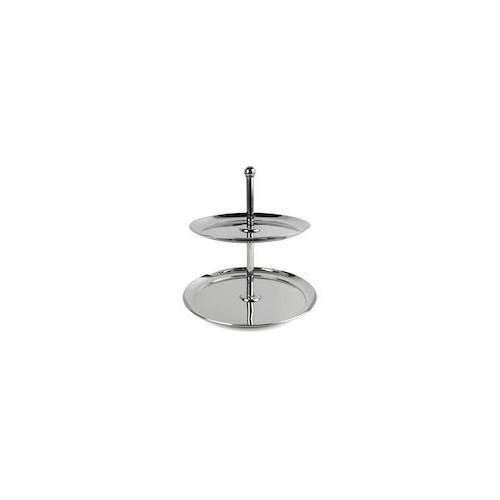 Xantia Kak/uppläggningsfat 2 vån, Högblank rostfritt stål
