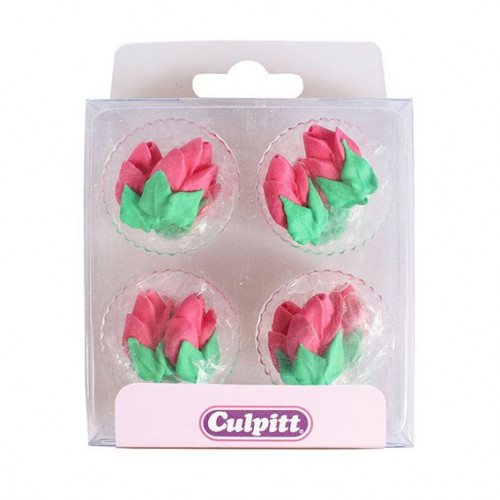 Culpitt Sockerdekorationer Rosknoppar, rosa