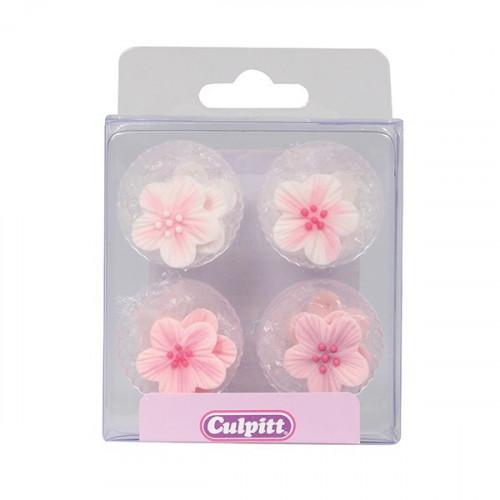 Culpitt Sockerdekorationer Rosa Blommor