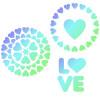 JEM Schabloner Love, hjärtan
