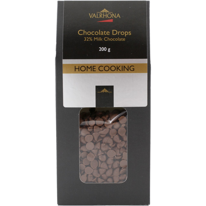 Valrhona Chokladdroppar, mjölkchoklad 32%
