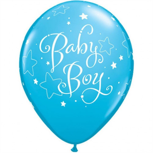 Qualatex Ballonger Baby Boy, blåa