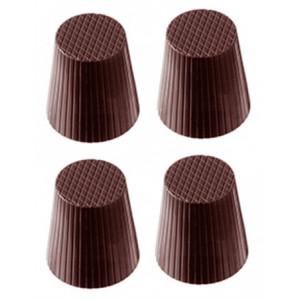 Chocolate World Pralinform Bägare, mönstrad