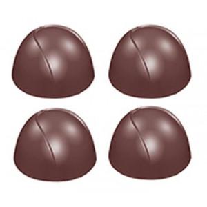 Chocolate World Pralinform Halvklot, mönstrade