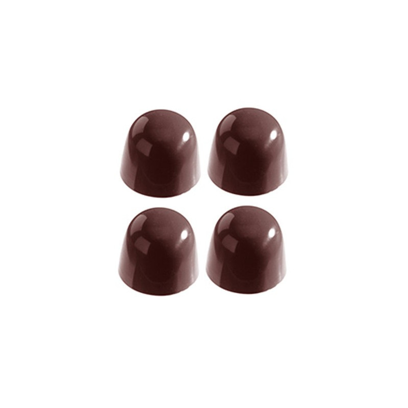 Chocolate World Pralinform Kupol slät, 3 cm