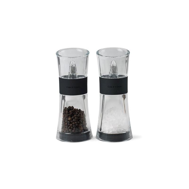 Cole & Mason Salt och pepparset Flip Svart