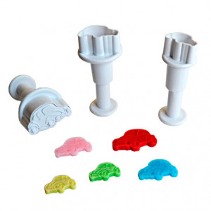 Dekofee Utstickare Mini Set, bilar