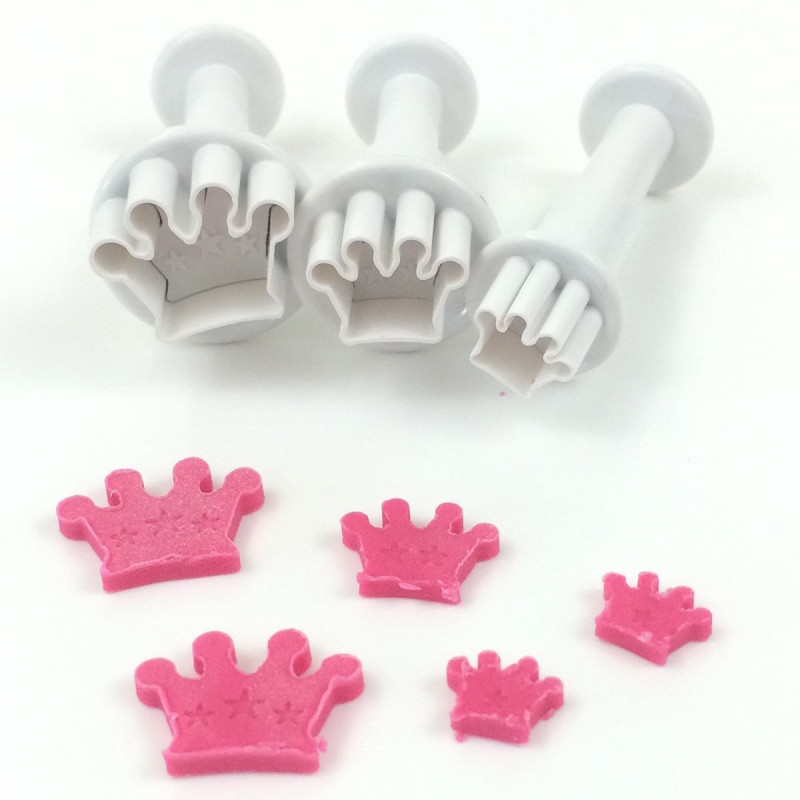 Dekofee Mini Plungers Crown set/3