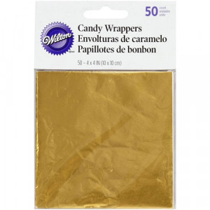 Wilton Candy Wrappers Godispapper, Guld
