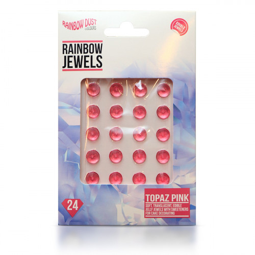 Rainbow Dust Ätbara Gelédiamanter, topas rosa